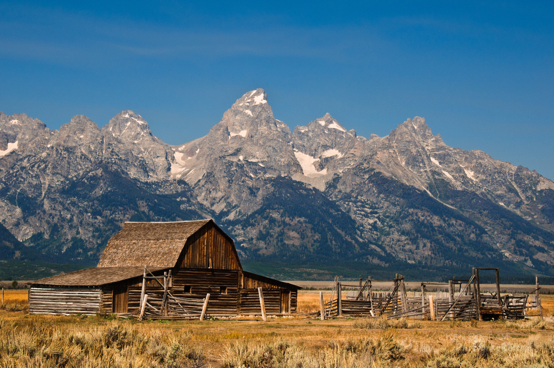 One of the Mormon Row barns found in Grand Teton National Park